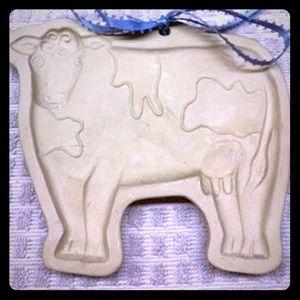 💘 2/$10 Vintage Brown Bag Cookie Art Cow Mold